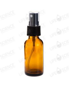 2 oz Amber Glass Bottle With Pump Sprayer (6-pack)