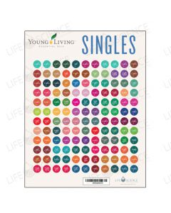 Young Living Single Oils Bottle Stickers (132 Labels)